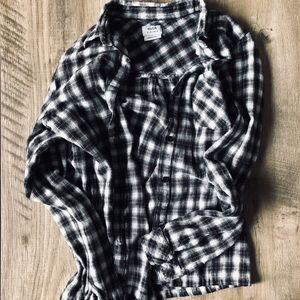RVCA Plaid checkered boyfriend flannel